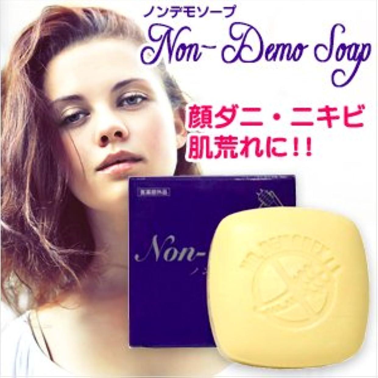 突っ込む顕著驚かす(医薬部外品) 顔ダニ石鹸 ノンデモソープ (Non-Demo Soap) 130g