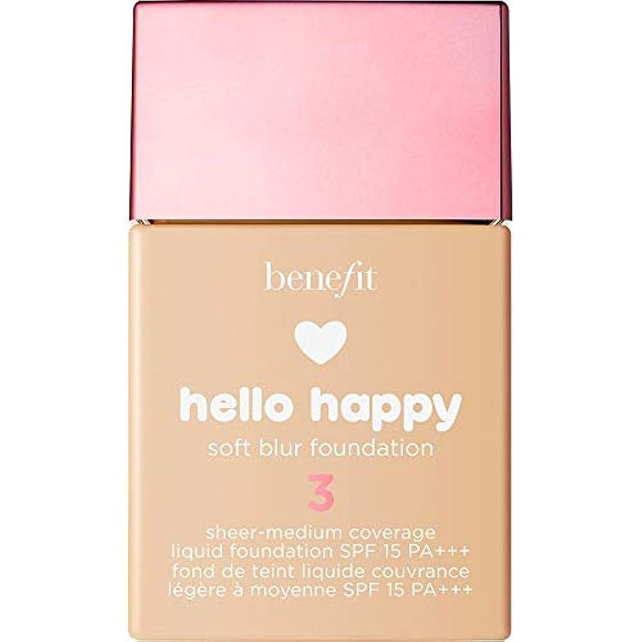 ふりをする妖精海洋の[Benefit ] 利益こんにちは幸せなソフトブラー基礎Spf15 30ミリリットル3 - ニュートラルライト - Benefit Hello Happy Soft Blur Foundation SPF15 30ml...
