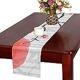 LKCDNG テーブルランナー 眩しい 和風の太陽 クロス 食卓カバー 麻綿製 欧米 おしゃれ 16 Inch X 72 Inch (40cm X 182cm) キッチン ダイニング ホーム デコレーション モダン リビング 洗える