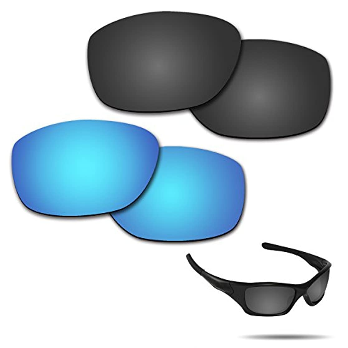 何よりも予測子買収【2 pairs packed】Fiskr 剥がれ防止 Oakley Pitbull交換レンズ 偏光 ピットブル レンズ