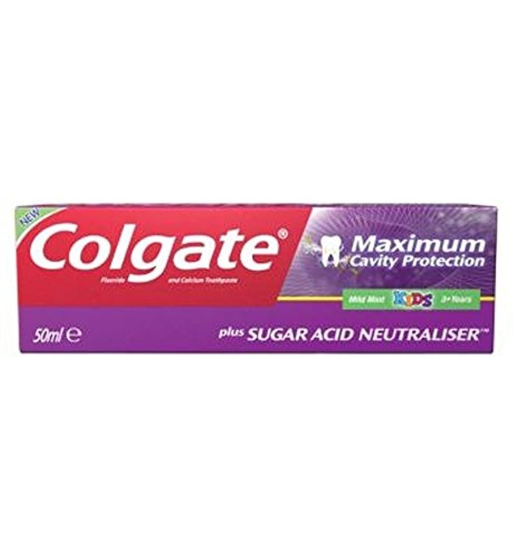 のためプリーツ方向コルゲート最大空洞の保護に加えて、糖酸中和剤の子供の歯磨き粉50ミリリットル (Colgate) (x2) - Colgate Maximum Cavity Protection plus Sugar Acid Neutraliser...