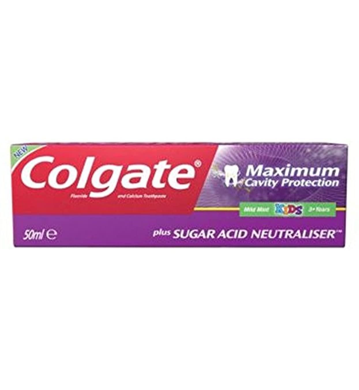 訪問才能大胆不敵コルゲート最大空洞の保護に加えて、糖酸中和剤の子供の歯磨き粉50ミリリットル (Colgate) (x2) - Colgate Maximum Cavity Protection plus Sugar Acid Neutraliser...
