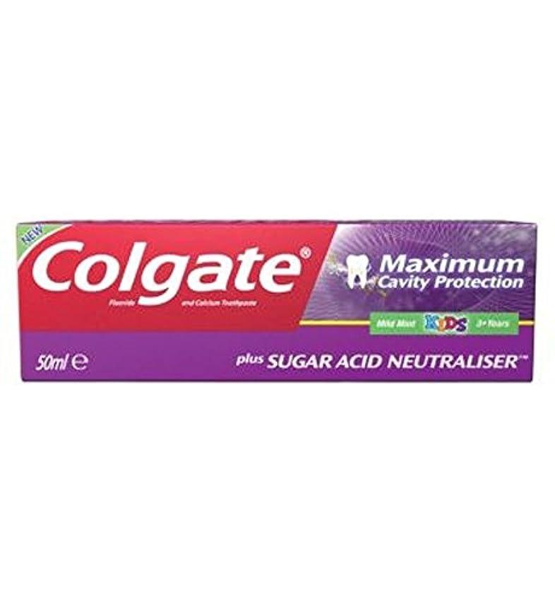 仲間、同僚アドバンテージワイドコルゲート最大空洞の保護に加えて、糖酸中和剤の子供の歯磨き粉50ミリリットル (Colgate) (x2) - Colgate Maximum Cavity Protection plus Sugar Acid Neutraliser...
