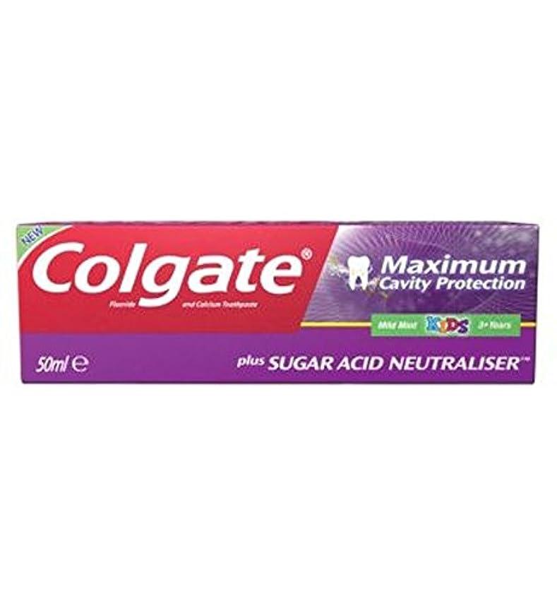 前者ピンポイント傷跡Colgate Maximum Cavity Protection plus Sugar Acid Neutraliser Kids Toothpaste 50ml - コルゲート最大空洞の保護に加えて、糖酸中和剤の子供...