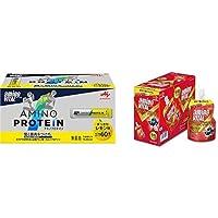 【セット買い】「アミノバイタル」アミノプロテイン レモン味 60本入箱 & アミノバイタル パーフェクトエネルギー 130g×6個