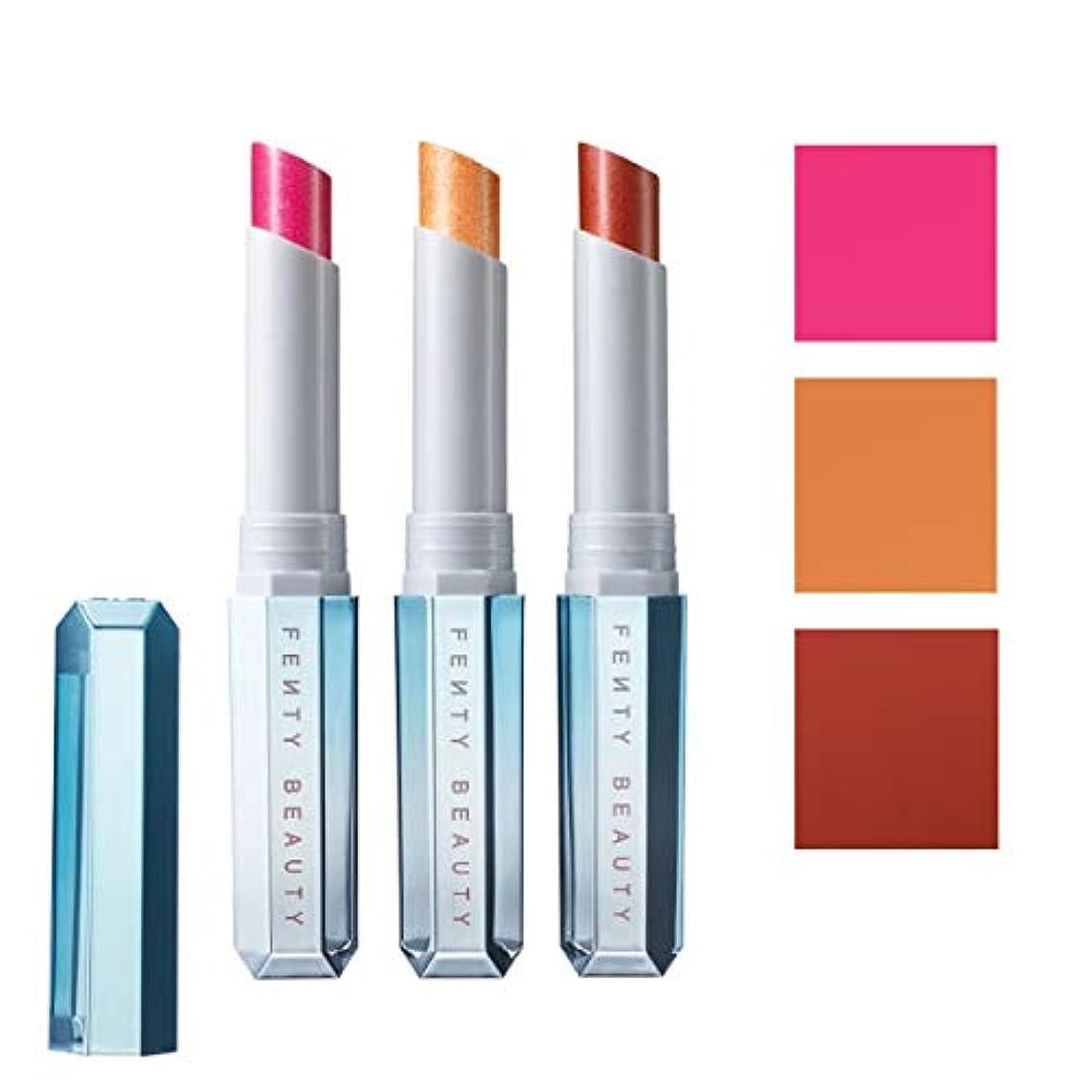 おばさんハードリングバーFENTY BEAUTY BY RIHANNA 限定版 limited-edition, Frosted Metal Lipstick 3pc Set - Snow Daze [海外直送品] [並行輸入品]