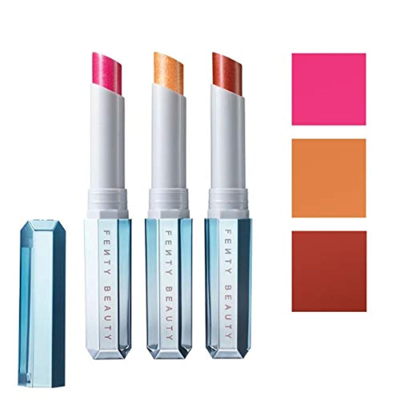 独立した紫の差別化するFENTY BEAUTY BY RIHANNA 限定版 limited-edition, Frosted Metal Lipstick 3pc Set - Snow Daze [海外直送品] [並行輸入品]