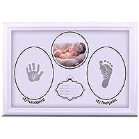 KAOKU ベビーフレーム 赤ちゃん 手形 足形 フォトフレーム 手足型写真立て 無毒で安全 出産祝い 内祝い ベビー記念品 置き掛け兼用