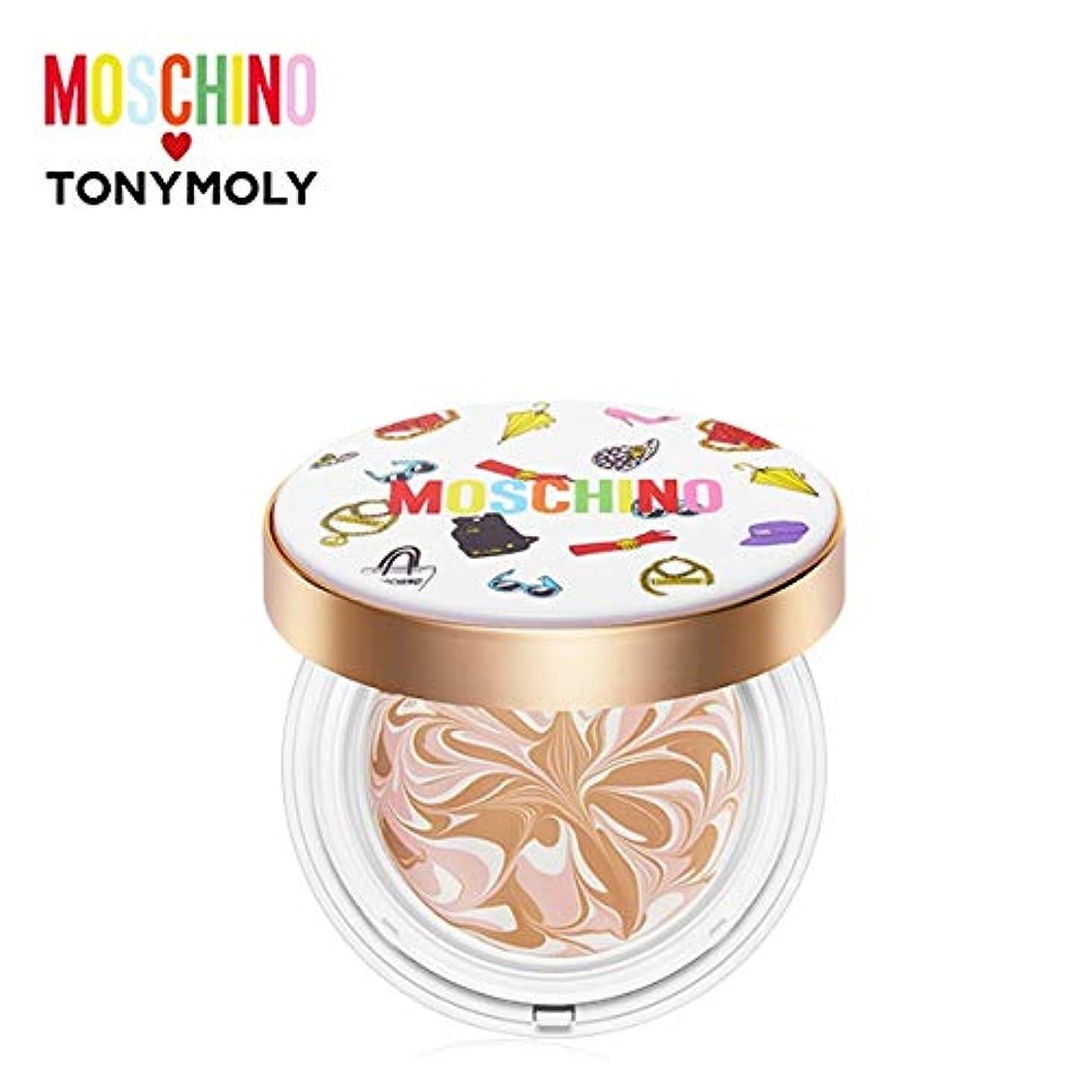 低下案件マダムトニーモリー [モスキーノ] シック スキン エッセンス パクト 18g TONYMOLY [MOSCHINO] Chic Skin Essence Pact #02 CHIC BEIGE [並行輸入品]