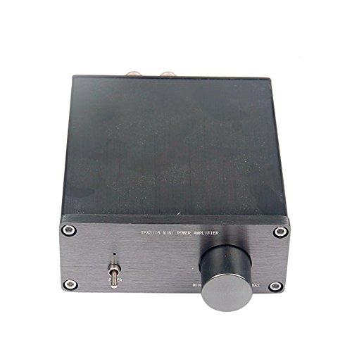 GAOHOU ミニデジタルパワーアンプ-HiFi-TPA3116-ステレオ-2-0チャネル・オーディオ・アンプ-50-50W-WT