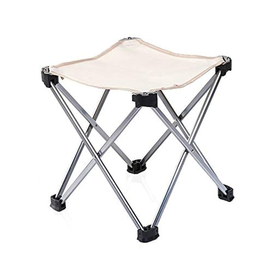ぜいたくエントリ調子CSQポータブル 大人のスツール、厚く耐久性のある折りたたみ椅子学生スツール公園の椅子屋外スツール釣りスツール収納が簡単スツール 折りたたみ式 (Color : Khaki)