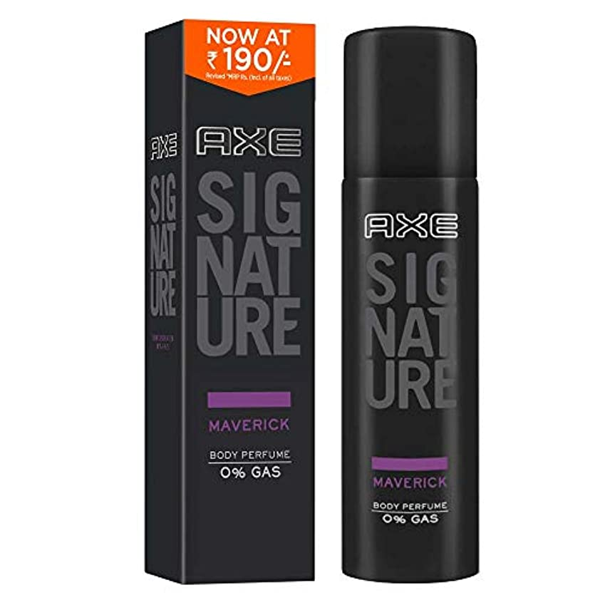 太鼓腹アルミニウム経験者AXE Signature Maverick Body Perfume, 122 ml