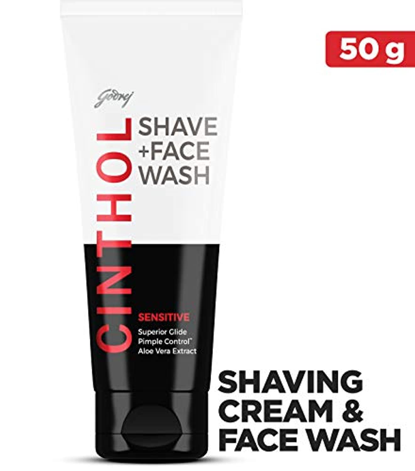 狂気旅客ボルトCinthol Sensitive Shaving + Face Wash, 50g