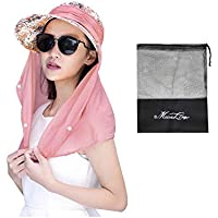 JINTN Womens Fishing Hat 360°UV Protection Sun Hat Large Brim Foldable UPF 50+ Summer Sun Visor Caps with Removable Sun Shield and Neck Cover for Outdoor Hiking Gardening Beach Camping Boating