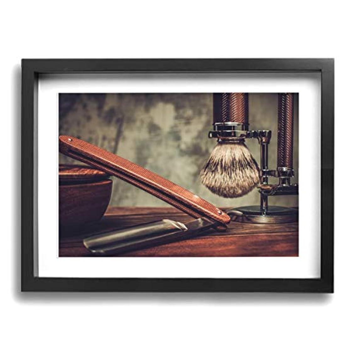 顎事実上ダッシュ魅力的な芸術 30x40cm Shaving Accessories On A Luxury Wooden Background キャンバスの壁アート 画像プリント絵画リビングルームの壁の装飾と家の装飾のための現代アートワークハング...