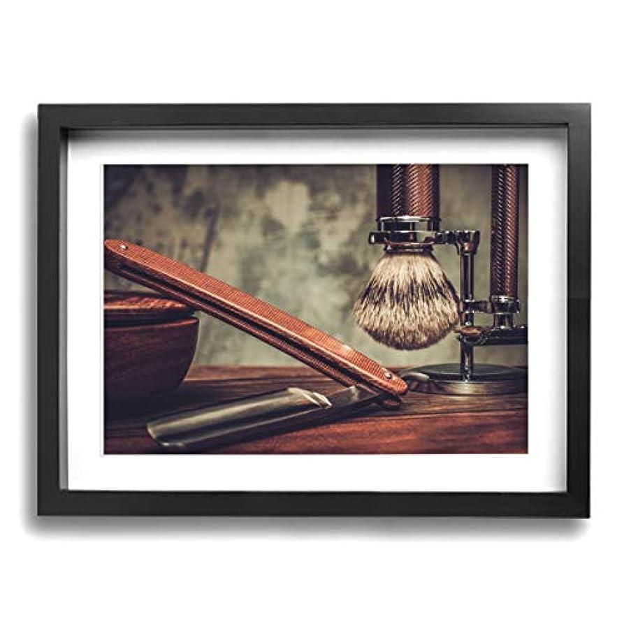 姉妹信頼できる精緻化魅力的な芸術 30x40cm Shaving Accessories On A Luxury Wooden Background キャンバスの壁アート 画像プリント絵画リビングルームの壁の装飾と家の装飾のための現代アートワークハング...