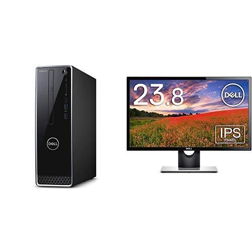Dell デスクトップパソコン Inspiron 3470 Celeron Office ブラック 20Q11HB/Windows 10/4GB/1TB HDD/DVD-RW + + Dell モニター 23.8インチ 超広視野角&スリムベゼル/フルHD/IPS 非光沢/HDMI,D-Sub/3年保証 SE2416H