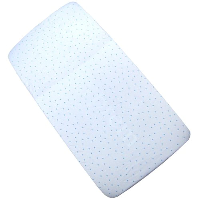 BabyPrem Baby Bedding Fitted Cotton Cradle Pram Sheet 35 x 16 BLUE SPOT by BabyPrem