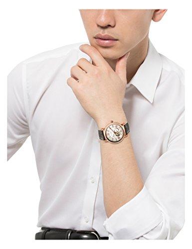 [フルボデザイン]Furbo design 腕時計 メイドインジャパン グレー革 シルバー文字盤 自動巻 F5026PSIGY メンズ