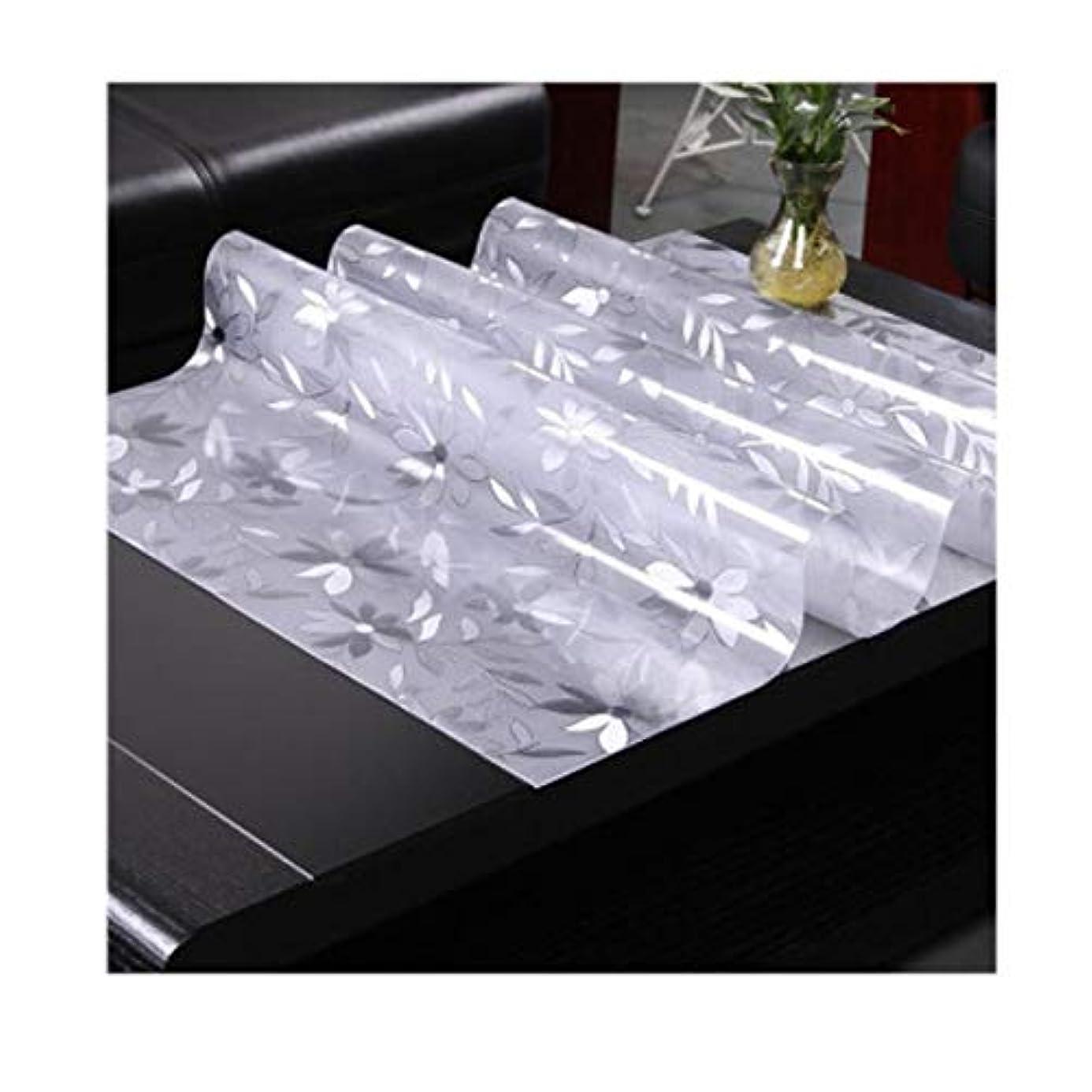 展示会保存する罹患率CHENTAOCS フロスト表マット、PVCテーブルクロス、防水、防油、80 * 130センチメートルコーヒーテーブルマット、柔らかいプラスチックマット、水晶板テーブルクロス、 シンプルで実用的なガジェット (Color : White, Size : 80*130cm)