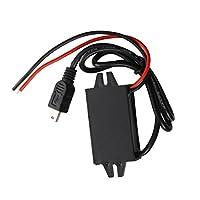 ACAMPTAR インバータ変換器 12V ~5V 3A DC-DC USB ブラック カーアダプター