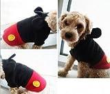 【i.d.s pet】ドッグウェア ミッキー風 犬 猫 服 トレーナー ワンちゃんがミッキーマウス風に 全5サイズ (M)