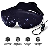 Heated Eye mask - Electric Heating Pad Eye Mask Far-infrared Therapy Adjustable Temperature Graphene Sleeping USB Heated Eye Massage Mask Sleep Mask For Dry Puffy Eyes, Dark Circle Eye Treatment