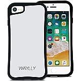 WAYLLY(ウェイリー) iPhone8 ケース iPhone7ケース iPhone6sケース iPhone6ケース くっつくケース 着せ替え 耐衝撃 米軍MIL規格 [スモールロゴ ホワイト] MK