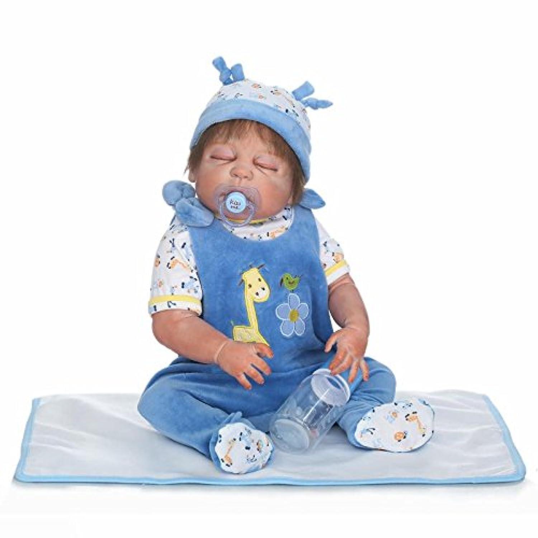 ピンキー23インチ57 cm Lifelike Realistic Lookingフルボディシリコンビニール赤ちゃん人形Reborn Baby Boy人形幼児用クリスマスギフト