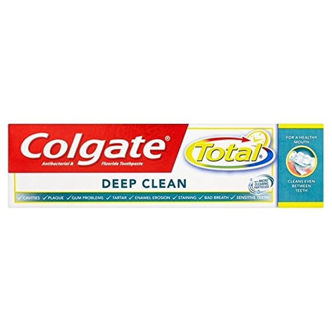 オペレーターまっすぐ子犬Colgate Total Deep Clean Toothpaste 75ml (Pack of 6) - コルゲートトータル深いクリーン歯磨き粉75ミリリットル x6 [並行輸入品]