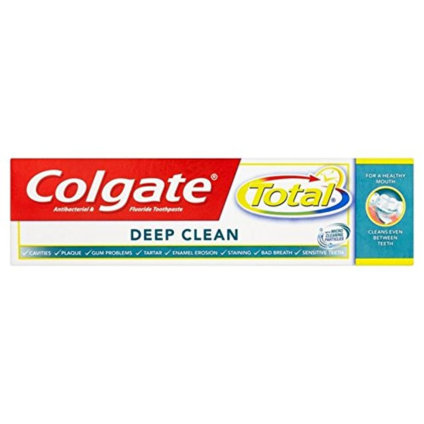 共和党文化回答コルゲートトータル深いクリーン歯磨き粉75ミリリットル x4 - Colgate Total Deep Clean Toothpaste 75ml (Pack of 4) [並行輸入品]