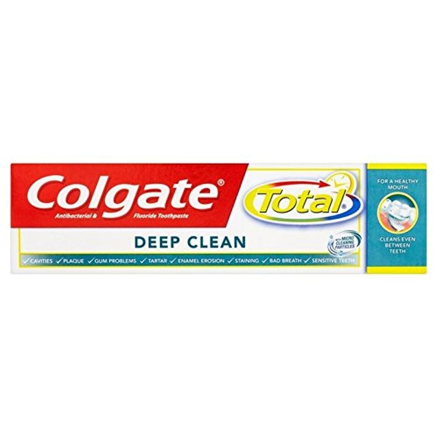 仕立て屋不測の事態薄暗いコルゲートトータル深いクリーン歯磨き粉75ミリリットル x2 - Colgate Total Deep Clean Toothpaste 75ml (Pack of 2) [並行輸入品]