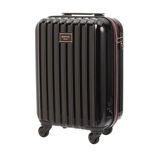 ベネトン レディース(UNITED COLORS OF BENETTON) 静走ラインキャリーバッグ・スーツケース(S)機内持込可 容量約29L 静音【ブラック/FREE】