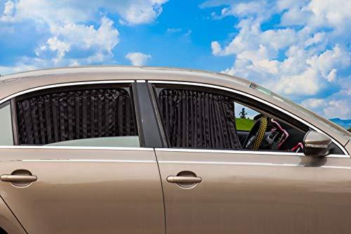 ZATOOTO車用 遮光カーテン UVカット マグネット内蔵簡単装着 2枚入り CT77BK
