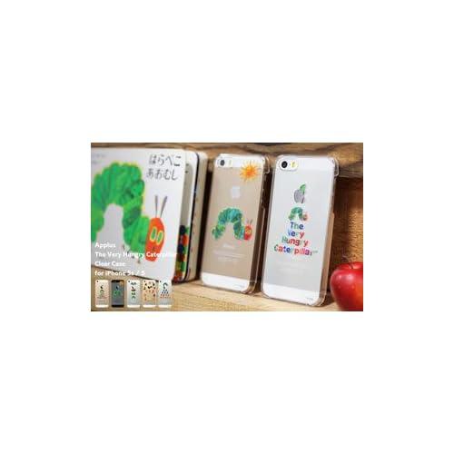docomo au SoftBank iPhone5 iPhone5S 専用 はらぺこあおむし Applus キャラクター ハード クリア iPhone ケース カバー ジャケット (たいとる)
