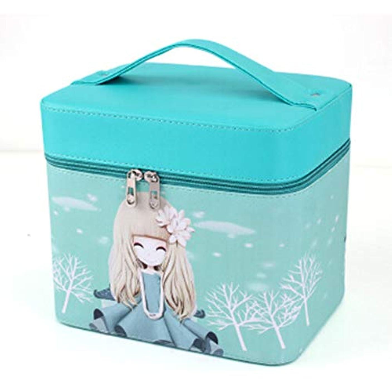 にじみ出る泥課す化粧オーガナイザーバッグ ジッパーと化粧鏡で小さなものの種類の旅行のための美容メイクアップのためのポータブル化粧品バッグ 化粧品ケース