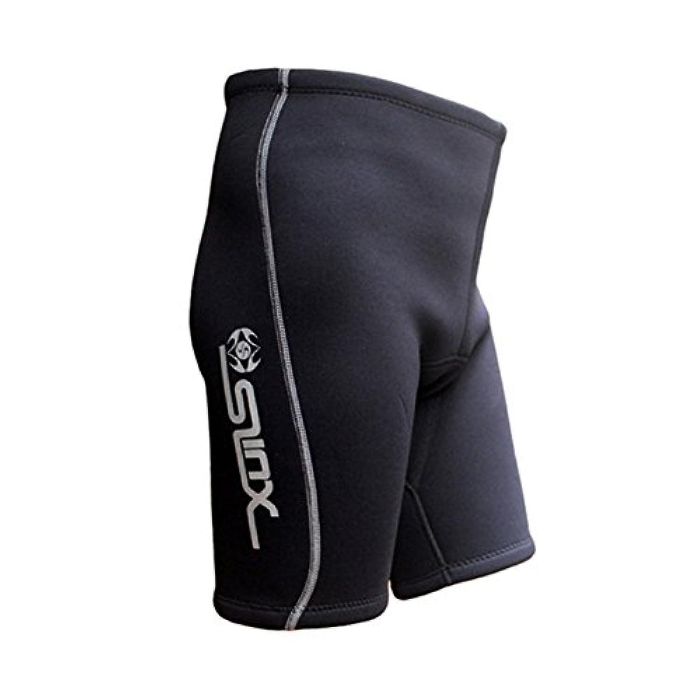hjuns-Wu 全5サイズ SLINX メンズ ダイビングショーツ 3mm ネオプレン ショートパンツ 潜水 水泳短パン スイミング トレーニング 保温 ウェットスーツ S