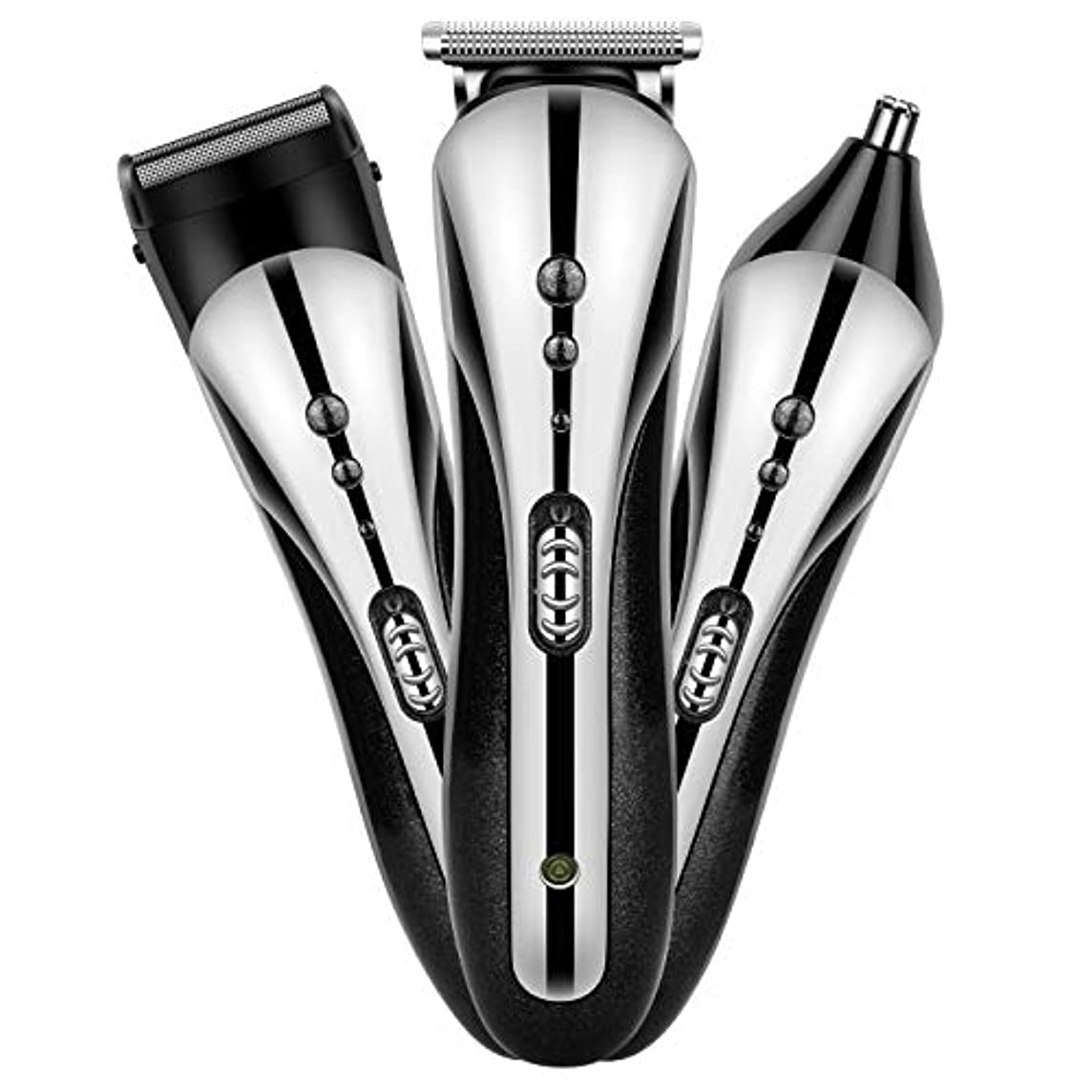 徐々にアジャコードOne-stage電動バリカン 鼻 耳 毛 カッター ヒゲトリマー カミソリ セット 充電式 家庭 こども 用 バージョンアップ型