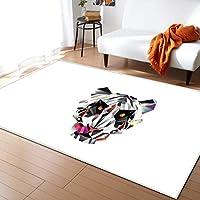 現代の 長正方形 カラーブロックリビングルームカーペット寝室レストランフロアマット ラグ 二畳用 リビング 床 カーペット カーペット 厚手 洗える