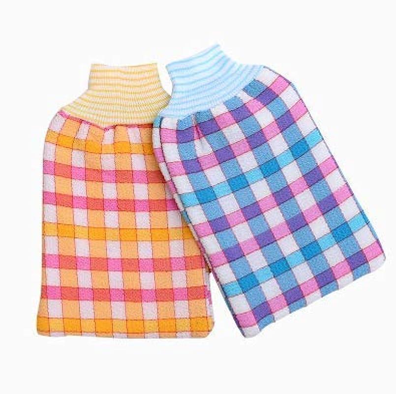 指標気分保持するDhe シャワーグローブ 浴用手袋 バス手袋 入浴用品 毛孔洗浄 肌マッサージ