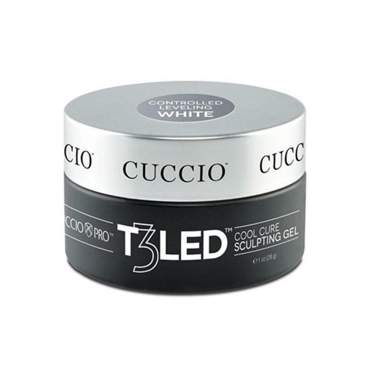 革命素朴な凍ったCuccio Pro - T3 LED/UV Controlled Leveling Gel - White - 2oz / 56g