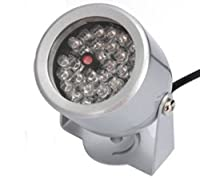 D-drempating セキュリティーライト LED赤外線ライト 30灯 or 48灯 選択 赤外線投光器 監視カメラ 補助照明 (シルバー 30灯)pa302