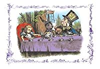 """"""" Alice in Wonderland : A Mad Tea Party """"印刷( UnstretchedキャンバスGiclee 20x 30)"""