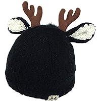 秋と冬のエルク帽子、0-3-6-12-24ヶ月の帽子赤ちゃん冬厚い暖かい赤ちゃんのセーターキャップ少年少女Nayang Store