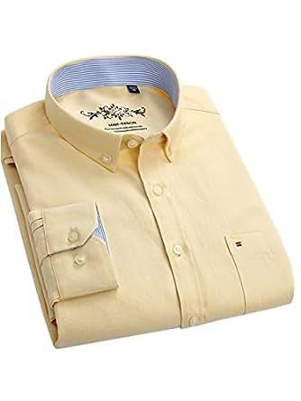 (ワイ-ミー)Y-ME 長袖ワイシャツカジュアルビジネス紳士長袖シャツ 選択する13色 形態安定 yellow38