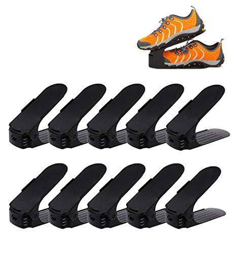 koobea 10個靴収納 靴ホルダー 高さ調節機能付き