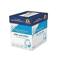 Hammermill 67780Greatホワイトリサイクルコピー用紙、92明るさ、20lb、8–1/ 2x 11、2500Shts/Ctn