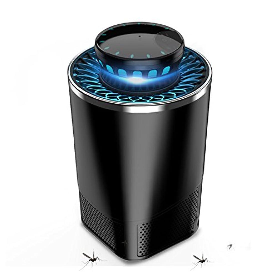 デコレーション支給接触LIXIONG 蚊ランプ 家庭 吸入タイプ 自動 ミュート 放射線を含まない、 黒、 13×21.2cm