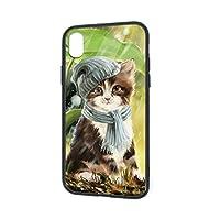 可愛い猫iPhoneXRケース IPhoneXR 用 カバー 6.1インチ スマホケース ガラスケース レンズ保護 TPUバンパー+背面ガラス 超軽量高耐久アイフォンXR 人気 オシャレ 耐衝撃 ファッション プレゼント 取り出し易い かっこいい