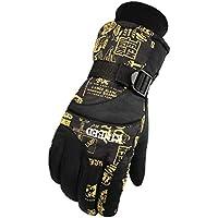 メンズ手袋暖かい防水スキー手袋スキーギアスノーボード手袋、03